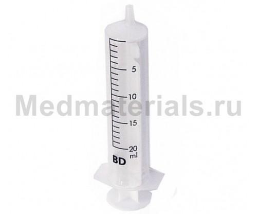 BD Discardit Шприц двухкомпонентный 20 мл, игла 21G (0,8 х 40 мм)