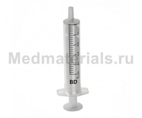 BD Discardit Шприц двухкомпонентный 5 мл, игла 22G (0,7 х 40 мм)