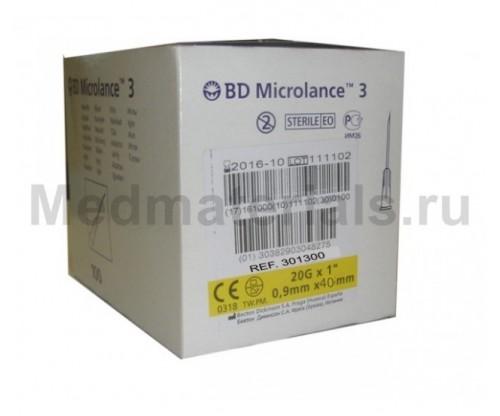 BD Microlance Игла инъекционная одноразовая стерильная 20G (0,9 x 40 мм)