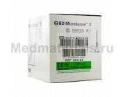 BD Microlance Игла инъекционная одноразовая стерильная 21G (0,8 x 25)