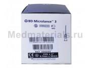 BD Microlance Игла инъекционная одноразовая стерильная 22G (0,7 x 50 мм)