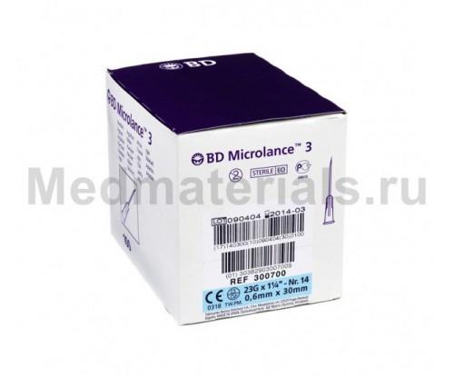 BD Microlance Игла инъекционная одноразовая стерильная 23G (0,6 x 30 мм)