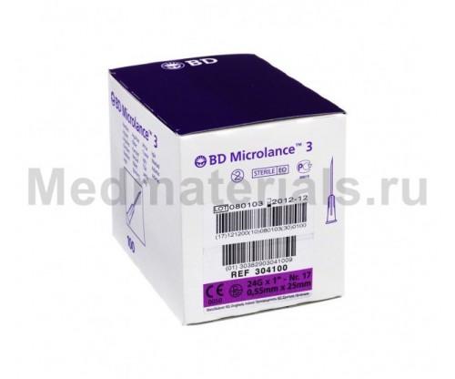 BD Microlance Игла инъекционная одноразовая стерильная 24G (0,55 x 25 мм)