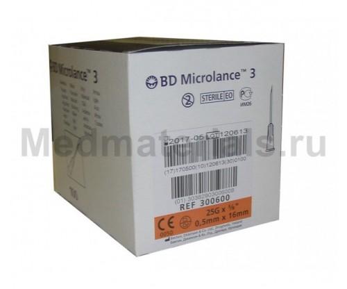 BD Microlance Игла инъекционная одноразовая стерильная 25G (0,5 x 16 мм)
