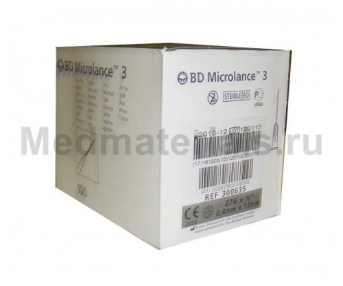 BD Microlance Игла инъекционная одноразовая стерильная 27G (0,4 x 13 мм)