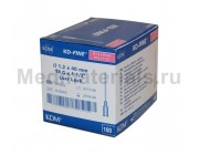 KDM KD-Fine Игла инъекционная одноразовая стерильная 18G (1,2 х 40 мм)