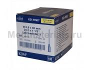 KDM KD-Fine Игла инъекционная одноразовая стерильная 20G (0,9 х 40 мм)