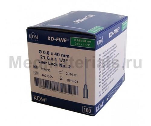 KDM KD-Fine Игла инъекционная одноразовая стерильная 21G (0,8 х 40 мм)