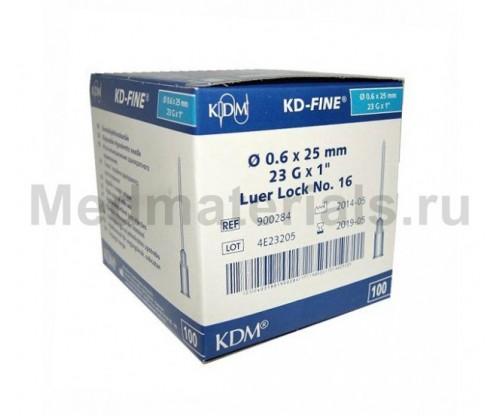 KDM KD-Fine Игла инъекционная одноразовая стерильная 23G (0,6 х 25 мм)