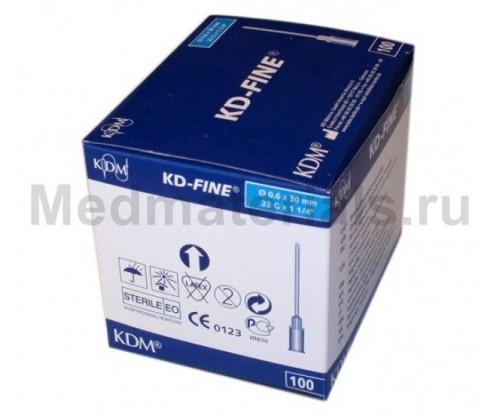 KDM KD-Fine Игла инъекционная одноразовая стерильная 23G (0,6 х 30 мм)