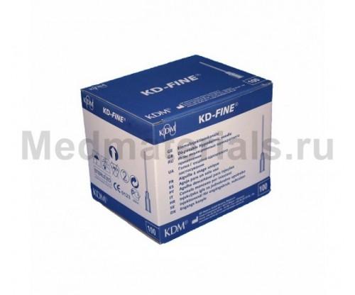 KDM KD-Fine Игла инъекционная одноразовая стерильная 27G (0,4 х 18 мм)