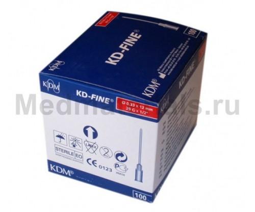 KDM KD-Fine Игла инъекционная одноразовая стерильная 29G (0,33 х 12 мм)