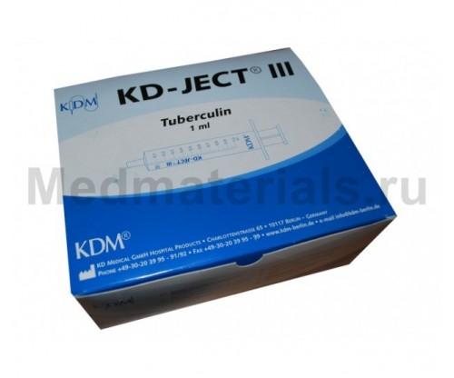 KD-JECT III Шприц трехкомпонентный 1 мл, игла 27G (0,4 х 12 мм) туберкулиновый