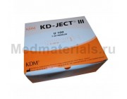 KD-JECT III Шприц трехкомпонентный 1 мл, U100, интегрированная игла 29G (0,33 х 12,7 мм)
