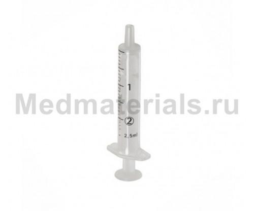 KD-JECT Шприц двухкомпонентный 2 мл, игла 23G (0,6 х 30 мм)