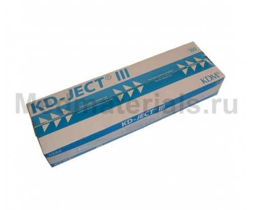 KD-JECT III Шприц трехкомпонентный 3 мл, игла 23G (0,6 х 30 мм)