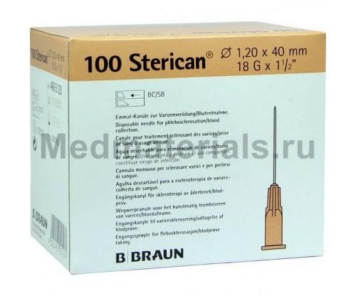 B.Braun Sterican Игла инъекционная одноразовая стерильная 18G (1.2 x 40 мм)