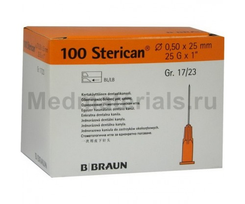 B.Braun Sterican Игла инъекционная одноразовая стерильная 25G (0,50 x 25 мм)
